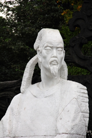 White statue of poet Du Fu Stock Photo - 16275233