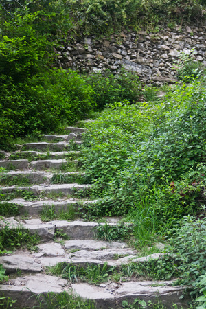 walking trail: Stone steps on a walking trail in Cinque Terre Stock Photo