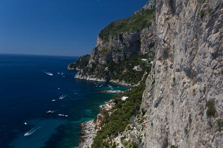 capri: Marina Piccolo or small marina in Capri Stock Photo