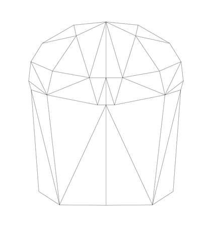 simple polygone vector art of easter cake . Vector illustration Ilustração