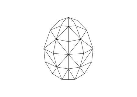 simple polygone vector art of easter egg