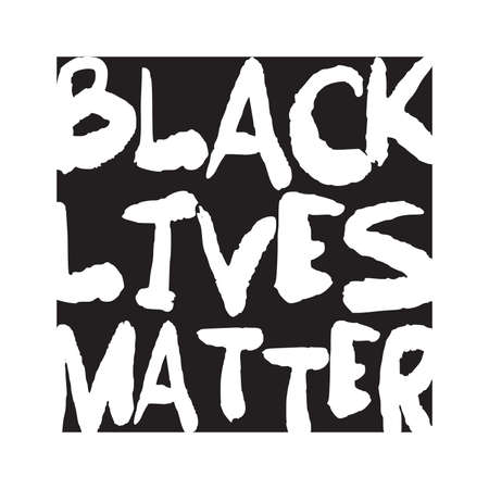 Black Lives Matter. vector lettering design element. 일러스트