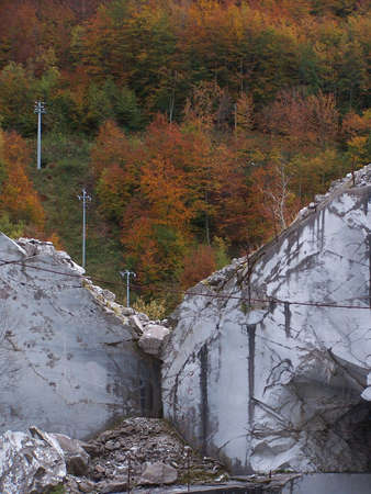 solidity: Marble quarry in Garfagnana, Italy