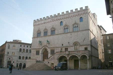 medioeval: Beautiful medieval palace Stock Photo