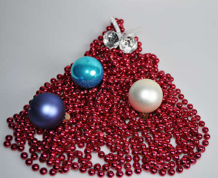 Accesories for decorating a house and a Christmas tree for Christmas and New Year Stock Photo