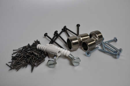 fasteners, construction tools - nails, screws, bolts