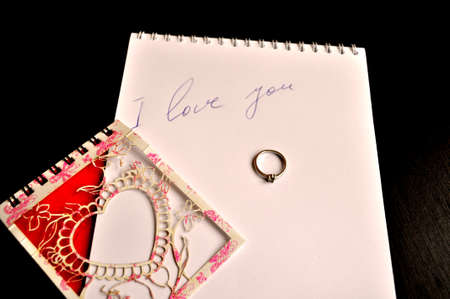 Valentine's Day - the inscription in the notebook