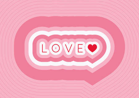 Valentine's Day, Wedding wallpaper background. Word LOVE and heart shape on pink background. For card, background, greeting card, invitation card, cover and more