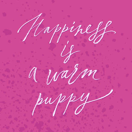 hapiness: Hapiness is a warm puppy t-shirt print
