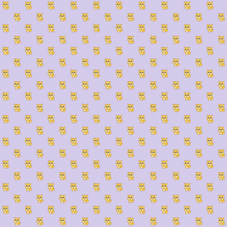 Pattern made of a kawaii illustration of Hachikō Stock Photo