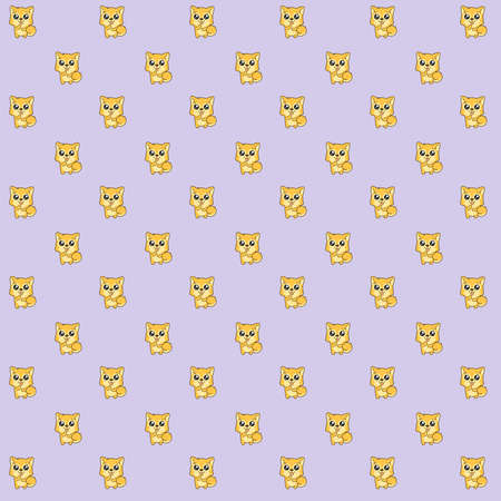 Pattern made of a kawaii illustration of Hachikō, the legendary dog remembered for his remarkable loyalty to his owner