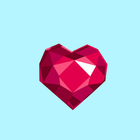 Faceted pink heart