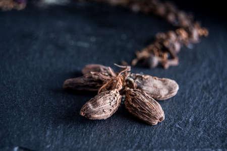 Fragrant cardamom on the table