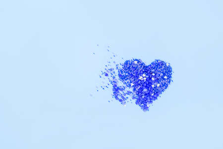 Blue heart on a blue background of small hearts. Valentines content Stock Photo