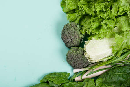 Fresh, tasty, healthy vegetables for salad on a light background. Proper nutrition