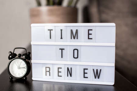Business agreement partnership. Time To Renew, Business Concept