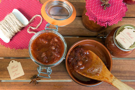 chutney: Homemade plum chutney