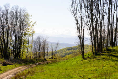 The Gods way hiking trail in Italy in the Apennines mountains between Florence and Bologna