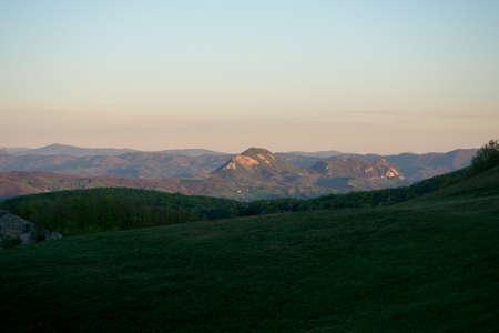 Apennines mountain landscape seen from the Banco de Imagens