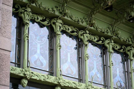 City architectural details found along the Nevsky Prospect in Saint Petersburg, Russia. Stockfoto