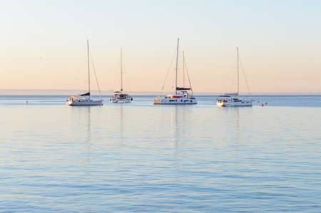 Sunrise at Cala Azzurra beach in Favignana, Italy