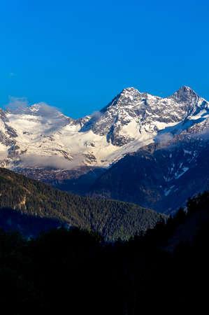 """Mountain peak on the italian alps in Valle d'Aosta on the trekking trail """"Monte Rosa Randò"""""""