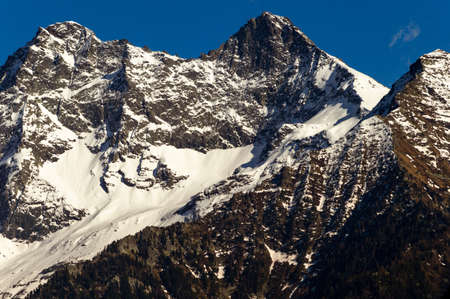 """Mountain peak on the italian alps in Valle d'Aosta on the trekking trail """"Monte Rosa Randò"""" 版權商用圖片"""
