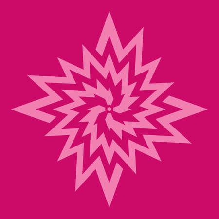 fuchsia: Rosa s�mbolo de la flor en el fondo fucsia