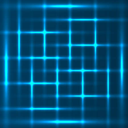 Blue abstract glowing squares background