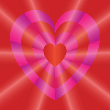 frill: Valentines day background with hearts of different sizes