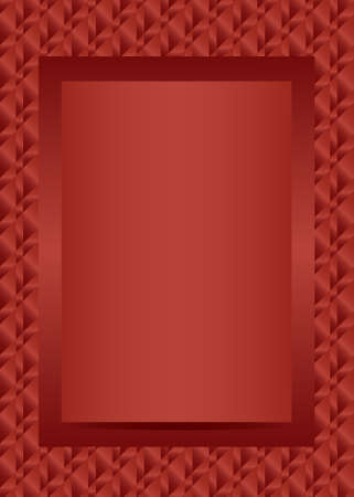 jewel box: Red text or photo frame portrait design vector