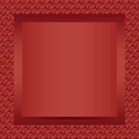 Square red text or photo frame design