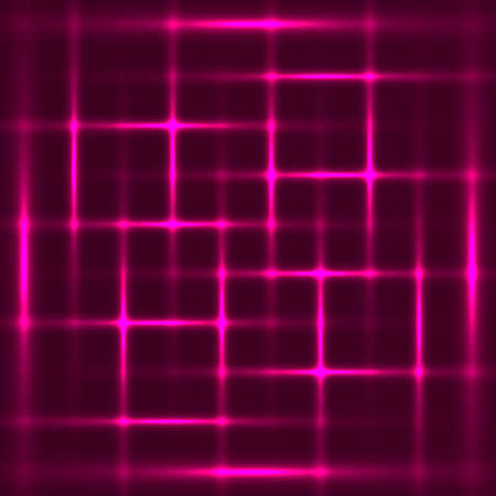 fluorescence: Violet abstract glowing squares background
