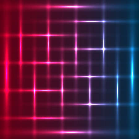 glint: Tricolor abstract glowing squares background