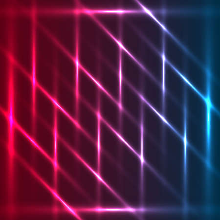 Tricolor abstract glowing diagonal lines background