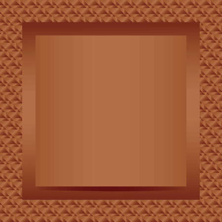 Square bronze text or photo frame design vector