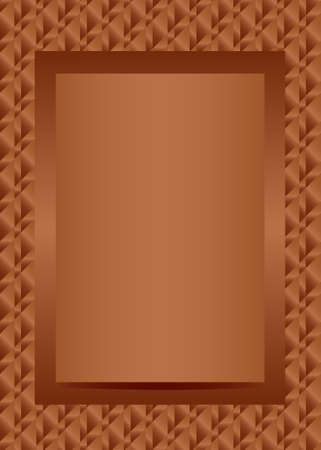 Bronze text or photo frame portrait design vector Ilustração