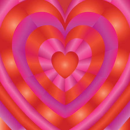 frill: Love background with hearts of different sizes