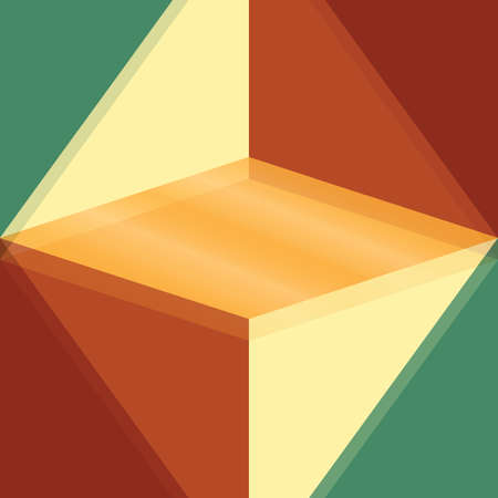 Vector abstract background with rhomb and triangles Illustration