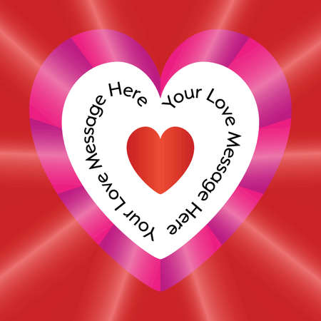 Valentine\'s day background with heart placeholde
