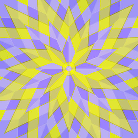 lilac flower: Abstract yellow and lilac flower style background