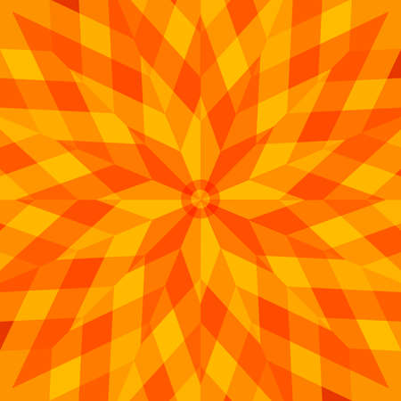 Abstract yelloworange flower style background Vector
