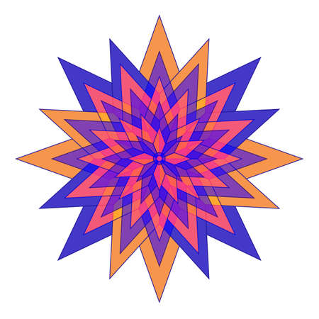 Abstract colorful flower star symbol