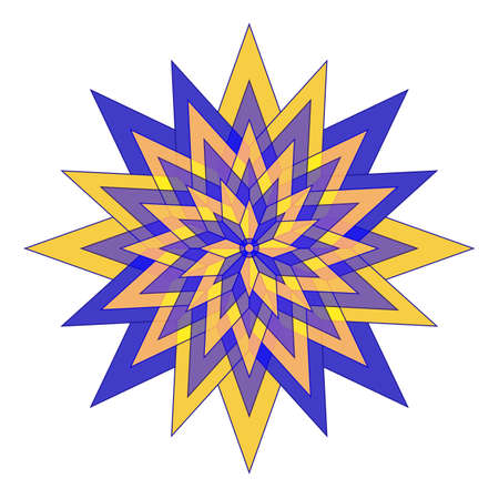 Abstract colorful flower star element Vector