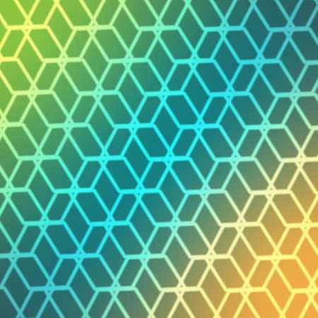 Abstract color geometric background with rhombs design