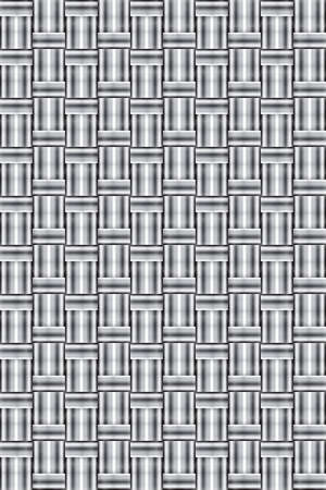 Abstract black and white wicker background vector