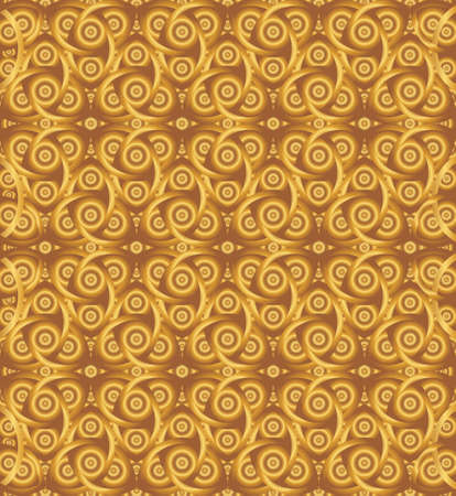 triquetra: Abstract cocoa celtic knot triquetra background for design process