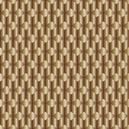 cross bar: Abstract bronze background with rhombus and rods