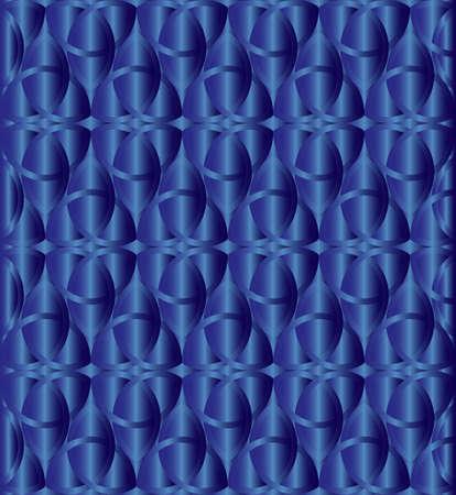 Blue metallic celtic knot triquetra background vector