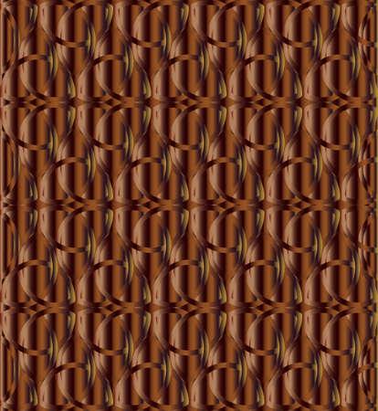 Chocolate color celtic knot triquetra background vector